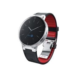 "Smartwatch Alcatel OneTouch Watch - M/L - montre intelligente - 1.22"" - NFC, Bluetooth - 60 g - noir, rouge"