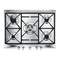 Plan de cuisson Smeg Selection SR275XGH - Table de cuisson au gaz - 5 plaques de cuisson - Niche - largeur : 55.5 cm - profondeur : 47.8 cm - inox