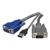 Switch kvm Startech - Cavo kvm ultrasottile