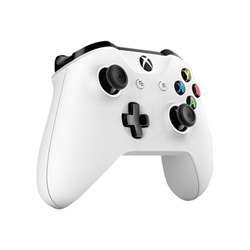 Contrôleurs Microsoft Xbox Wireless Controller - Gamepad - sans fil - Bluetooth - blanc - pour PC, Microsoft Xbox One, Microsoft Xbox One S