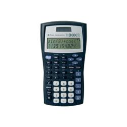 Calculatrice Texas Instruments TI-30X IIS - Calculatrice scientifique - 10 chiffres + 2 exposants - panneau solaire, pile