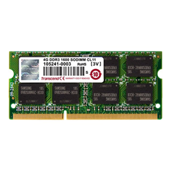 Memoria RAM Transcend - 4gb ddr3 1600mhz   1.5v