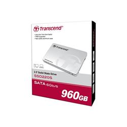 """Disque dur interne Transcend SSD220S - Disque SSD - 960 Go - interne - 2.5"""" - SATA 6Gb/s"""