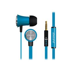 UBSOUND Fighter - Écouteurs avec micro - intra-auriculaire - jack 3,5mm - isolation acoustique - bleu