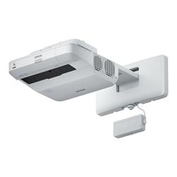 Vidéoprojecteur Epson EB-1450Ui - Projecteur LCD - 3800 lumens - WUXGA (1920 x 1200) - 16:10 - HD 1080p - Objectif fixe de portée ultra courte - 802.11n sans fil / LAN