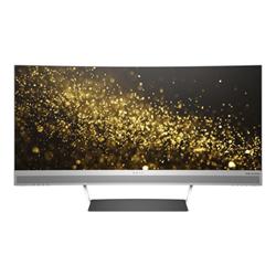 """Écran LED HP Envy 34 - Écran LED - incurvé - 34"""" (34"""" visualisable) - 3440 x 1440 - VA - 350 cd/m² - 3000:1 - 6 ms - 2xHDMI, DisplayPort - haut-parleurs - noir, argenté(e)"""