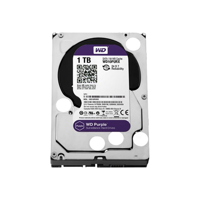 WESTERN DIGITAL - WD PURPLE 3.5P 1TB 64MB SATA3 (AV)
