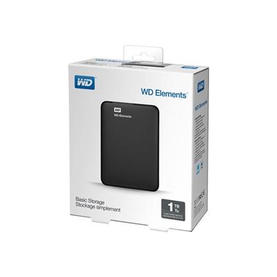 WESTERN DIGITAL - ELEMENTS PORTABLE 1TB BLACK