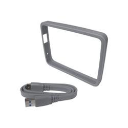 Sacoche WD Grip Pack WDBZBY0000NSL - Protection de lecteur de disque dur externe - fumé - pour My Passport Ultra WDBGPU0010BBK, WDBGPU0010BBL, WDBGPU0010BBY, WDBGPU0010BWT