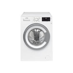 Lave-linge Smeg High Tech WHT610EIT - Machine à laver - pose libre - largeur : 60 cm - profondeur : 50 cm - hauteur : 84 cm - chargement frontal - 6 kg - 1000 tours/min - blanc