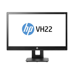 "Écran LED HP vh22 - Écran LED - 21.5"" (21.5"" visualisable) - 1920 x 1080 Full HD (1080p) - TN - 250 cd/m² - 1000:1 - 5 ms - DVI-D, VGA, DisplayPort - noir"