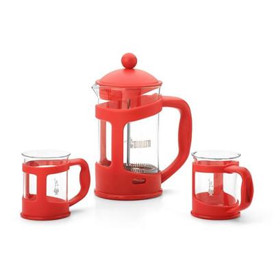 Bialetti - SET COFFEE PRESS RED   2 MUG