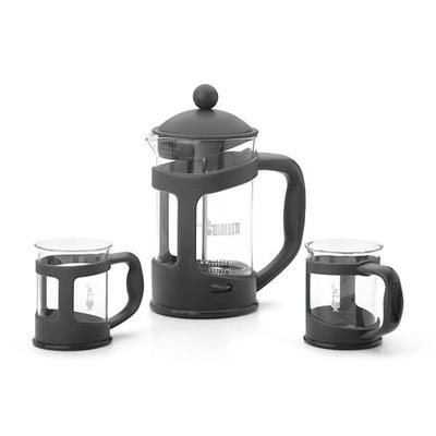 Bialetti - SET COFFEE PRESS BLACK   2 MUG