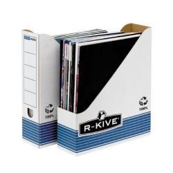 Meuble Bankers Box - Porte-revues - A4 - blanc, bleu