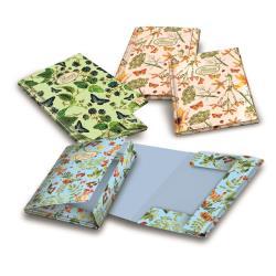 Porte-documents PIGNA Nature Flowers - Chemise à 3 rabats - couleurs assorties (pack de 6)