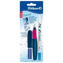 Stylo Pelikan Twist - Fountain pen and ink eraser / re-write pen set - non permanent