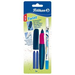 Stylo Pelikan Twist - Rollerball pen and ink eraser / re-write pen set - non permanent