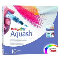 Pentel Arts Aquash - Brush pen and crayon set