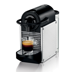 Macchina da caffè De Longhi - Nespresso Pixie Steel Dots EN125.M