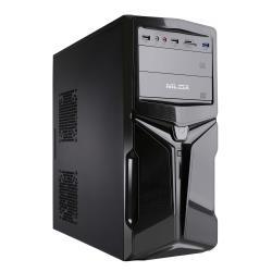 Boîtier PC Nilox NX735 - Tour midi - ATX - pas d'alimentation - noir - USB/Audio