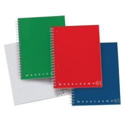 Pigna Monocromo - Bloc notes - A4 - 100 feuilles - quadrillé - 4 trous