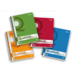 Classeur Pigna Quablock Evolution - Bloc notes - A4 - 50 feuilles - gradué - 4 trous