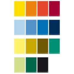 Carnet Pigna Monocromo Maxi - Cahier d'exercice - A4 - 70 feuilles - gradué - disponible dans différentes couleurs