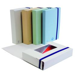 Porte-documents Brefiocart ECO NEW - Chemise à 3 rabats - 30 mm - gris