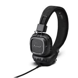 Marshall Major II - Casque avec micro - sur-oreille - jack 3,5mm - noir absolu