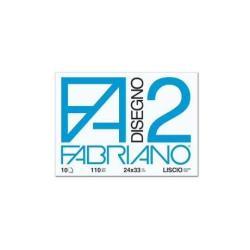 Fabriano Disegno 2 - Bloc à dessins - 330 x 480 mm - 12 feuilles