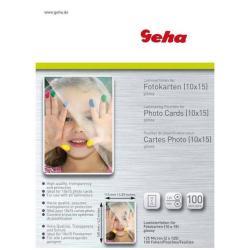 Accessoire plastifieuses Geha - Pack de 100 - brillant - pochettes plastifiées