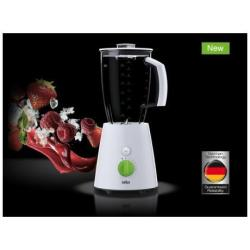 Mixeur Braun Tribute Collection JB 3010 - Bol mixeur blender - 2 litres - 800 Watt - blanc/vert