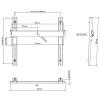 Support pour LCD Nec - NEC WS32-52L - Montage mural...