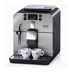 """Expresso et cafetière Gaggia Brera - Machine à café automatique avec buse vapeur """"Cappuccino"""" - 15 bar - inox/noir"""