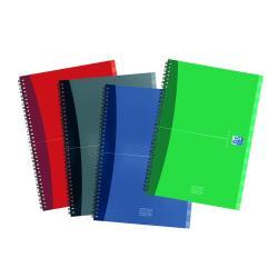 Organizer Oxford Office Essentials - Répertoire - A5 - 80 feuilles - papier blanc - disponible dans différentes couleurs - carton