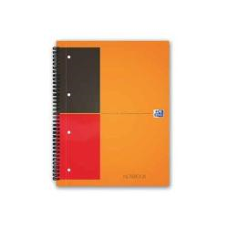 Classeur Oxford International A4+ - Cahier à spirale ActiveBook - 80 feuilles / 160 pages - blanc - gradué - polypropylène (PP)