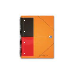 Classeur Oxford International Meetingbook A4+ - Cahier - 80 feuilles / 160 pages - papier blanc - règle - perforé - couverture orange - polypropylène (PP)