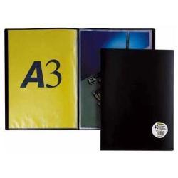 Boîte à archive ELBA - Porte vues - 20 pochettes - A3 - noir
