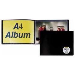 Boîte à archive ELBA - Porte vues - 40 pochettes - A3 - noir