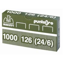 Agrafe ro-ma - Agrafes - 24/8 - 12 x 6 mm - or - pack de 1000