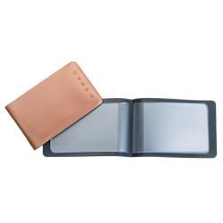 Boîte à archive Favorit - Classeur pour cartes de visite - 6 pochettes - 85 x 54 mm - couleurs assorties (pack de 25)