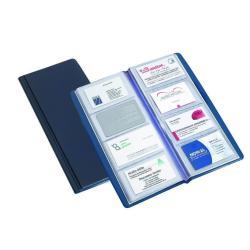Boîte à archive Favorit - Classeur pour cartes de visite - 60 x 100 mm - pour 80 cartes - bleu foncé