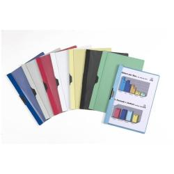 Porte-documents Favorit - Chemise à clip - 8 mm - A4 - noir avec couvercle avant transparent (pack de 10)