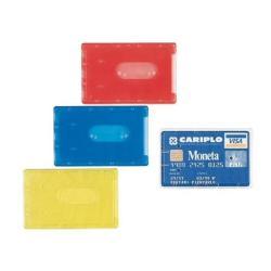 Boîte à archive Favorit - Pochette de protection de carte de visite - 85 x 54 mm - translucide, couleurs assorties (pack de 100)