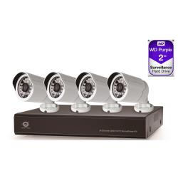 Conceptronic C8CCTVKITD10802TB - DVR + caméra(s) - 8 canaux - 1 x 2 To - 4 caméra(s) - CMOS