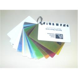 Cartes de visite Zebra Color - Carte - polychlorure de vinyle (PVC) - 30 mil - argent métallique - CR-80 Card (85.6 x 54 mm) 500 carte(s) - pour Zebra P110m, P330i, P430i