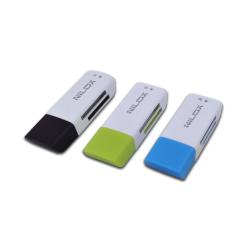 Lecteur de cartes mémoire Nilox 10NXCRMI00003 - Lecteur de carte - 46 en 1 ( MS, MS PRO, MMC, SD, SM, MS Duo, MS PRO Duo, miniSD, RS-MMC, microSD, SDHC, MS Micro, microSDHC ) - USB 2.0
