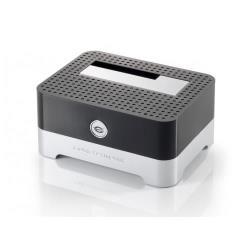 Boîtier pour disque dur externe Conceptronic CHDDOCK 2,5/3,5 inch Hard Disk Docking Station USB 2.0 - Contrôleur de stockage - 2,5 po./3,5 po. partagé - SATA 1.5Gb/s - USB 2.0