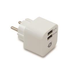 Chargeur Conceptronic CUSBPWR34A 2-Port USB Charger - Adaptateur secteur - 3.4 A - 2 connecteurs de sortie ( USB (alimentation uniquement) )
