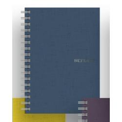 Carnet Fabriano EcoQua - Cahier - A4 - 70 feuilles - quadrillé - bleu - papier Sirio Tela